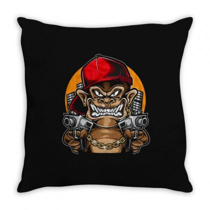 King Monkey Throw Pillow Designed By Disgus_thing