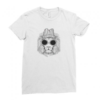 Hipster Leo T Shirt Ladies Fitted T-shirt Designed By Sara Jon