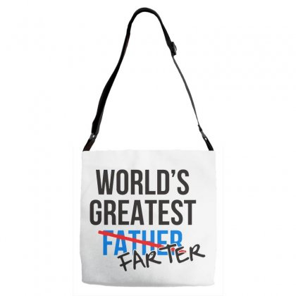 World's Greatest Farter Father Adjustable Strap Totes Designed By Pinkanzee