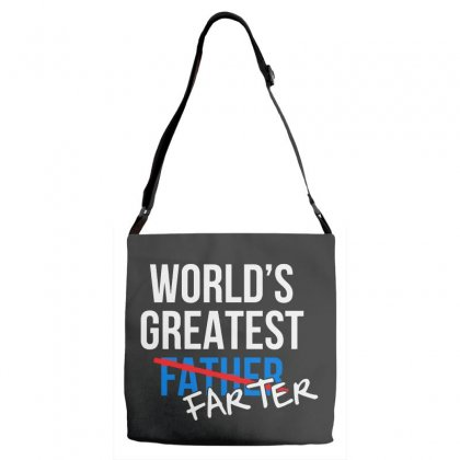 World's Greatest Father Adjustable Strap Totes Designed By Pinkanzee