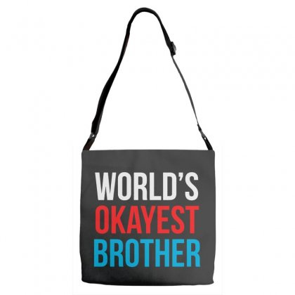 World's Okayest Brother Awesome Adjustable Strap Totes Designed By Pinkanzee