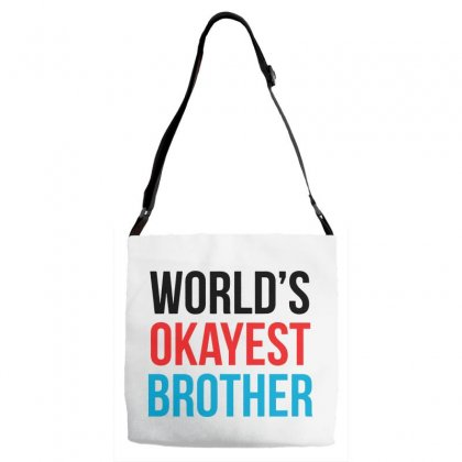 World's Okayest Brother Adjustable Strap Totes Designed By Pinkanzee