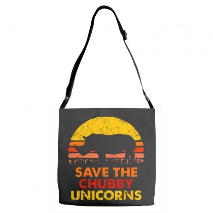 Save The Chubby Unicorns Adjustable Strap Totes Designed By Pinkanzee
