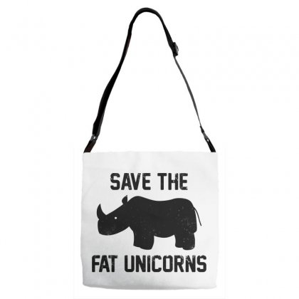 Save The Fat Unicorns Black Style Adjustable Strap Totes Designed By Pinkanzee
