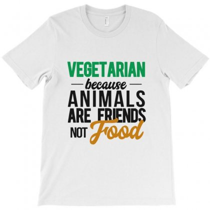 Vegetarian Because Animals Are Friends Not Food T-shirt Designed By Ande Ande Lumut