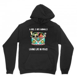 a girl and her animals living life in peace Unisex Hoodie | Artistshot