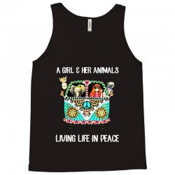 a girl and her animals living life in peace Tank Top | Artistshot