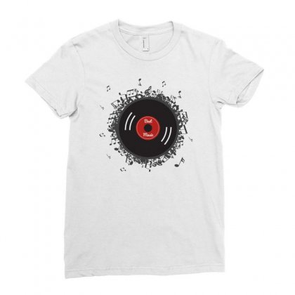 Dynamic Vinyl Record Ladies Fitted T-shirt Designed By Ande Ande Lumut