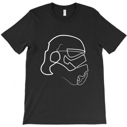 White Line Storm Trooper T-shirt Designed By Sarahzoepicture