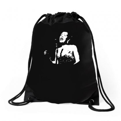 Billie Holiday Drawstring Bags Designed By Funtee