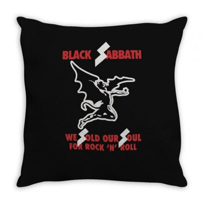 Black Sabbath Sold Our Soul Throw Pillow Designed By Enjang