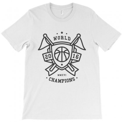 Basketball Champions Shield T-shirt Designed By Sarahzoepicture