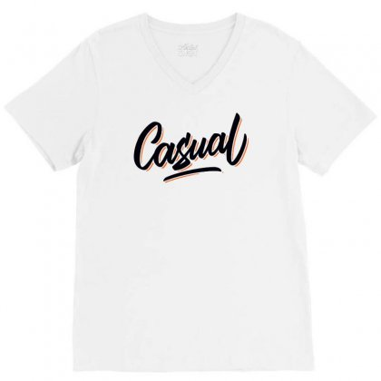 Casual V-neck Tee Designed By Hot Pictures