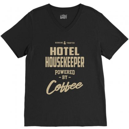 Hotel Housekeeper V-neck Tee Designed By Cidolopez