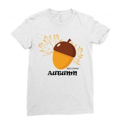 Welcome Autumn Ladies Fitted T-shirt Designed By Bettercallsaul