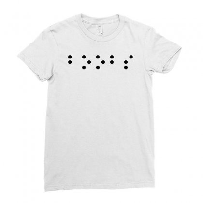 Boobs In Braille Funny Ladies Fitted T-shirt Designed By Ismi