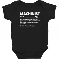 machinist definition noun Baby Bodysuit | Artistshot