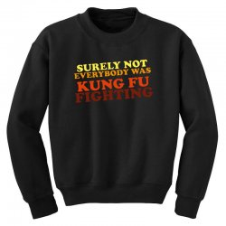 surely not everybody was kung fu fighting   colour Youth Sweatshirt | Artistshot