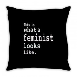 this is what  a feminist look like Throw Pillow   Artistshot