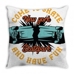 come to skate Throw Pillow | Artistshot