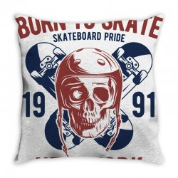 born to skate Throw Pillow | Artistshot