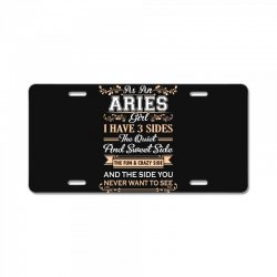 as an aries girl i have three sides License Plate | Artistshot