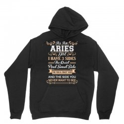 as an aries girl i have three sides Unisex Hoodie | Artistshot