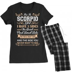 as a scorpio girl i have three sides Women's Pajamas Set | Artistshot