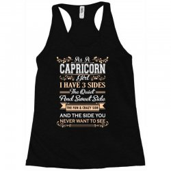 as a sagittarius girl i have three sides Racerback Tank | Artistshot