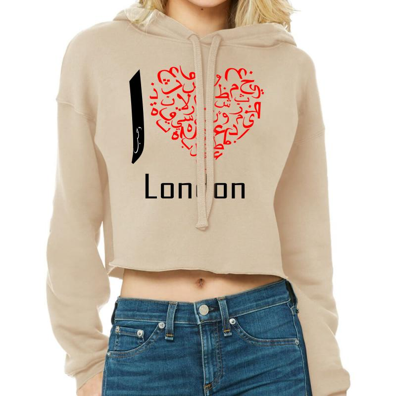 Love London 7 Cropped Hoodie | Artistshot