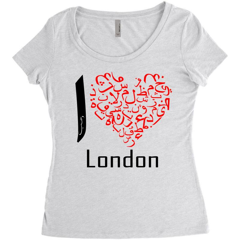 Love London 7 Women's Triblend Scoop T-shirt | Artistshot