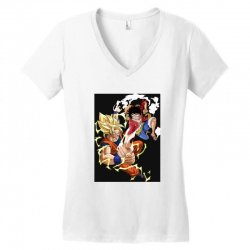 goku vs luffy Women's V-Neck T-Shirt | Artistshot