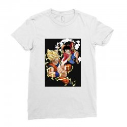 goku vs luffy Ladies Fitted T-Shirt | Artistshot