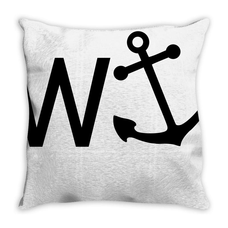 W Anchor Throw Pillow | Artistshot