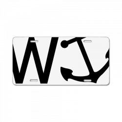 w anchor License Plate | Artistshot
