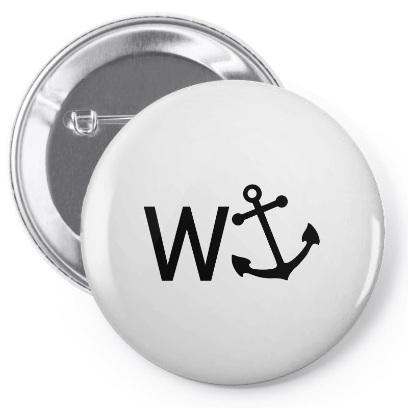 W Anchor Pin-back Button | Artistshot