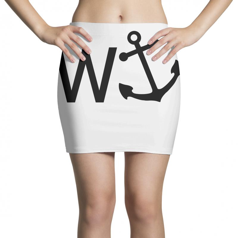 W Anchor Mini Skirts | Artistshot