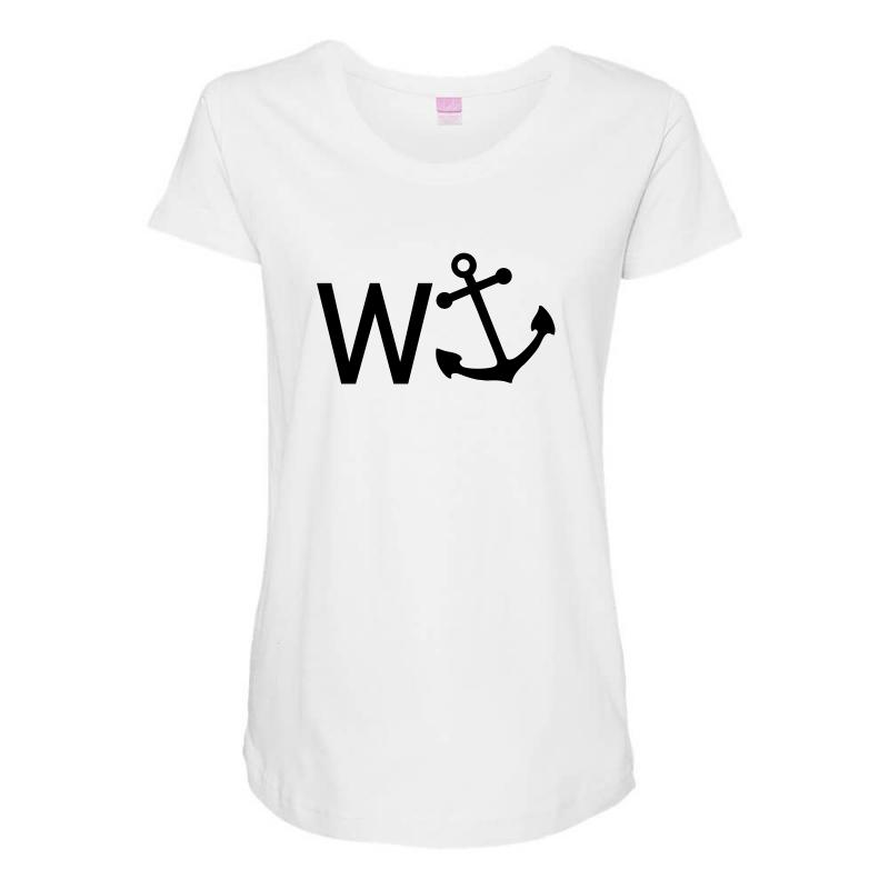 W Anchor Maternity Scoop Neck T-shirt | Artistshot