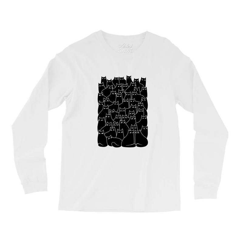 Suspicious Cats Long Sleeve Shirts | Artistshot