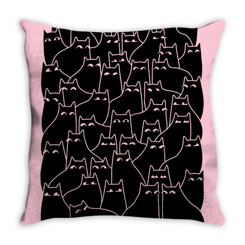 Suspicious Cats Throw Pillow | Artistshot