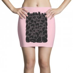 suspicious cats Mini Skirts | Artistshot