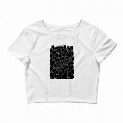 suspicious cats Crop Top | Artistshot