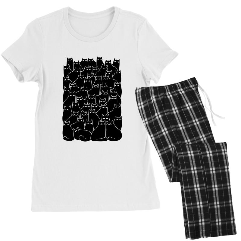 Suspicious Cats Women's Pajamas Set | Artistshot