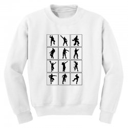 fortnite emotes Youth Sweatshirt | Artistshot