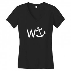 w anchor Women's V-Neck T-Shirt | Artistshot