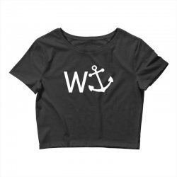 w anchor Crop Top | Artistshot