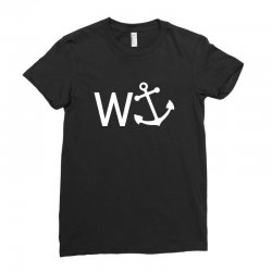 w anchor Ladies Fitted T-Shirt | Artistshot