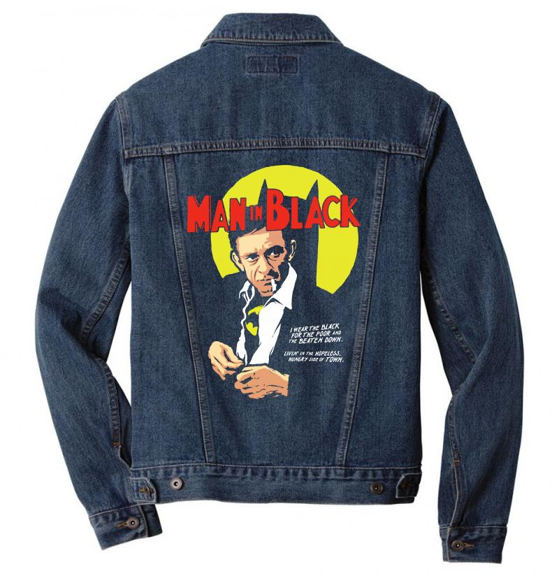 Man In Black Men Denim Jacket | Artistshot