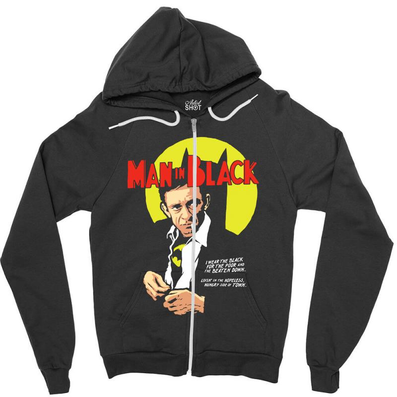 Man In Black Zipper Hoodie | Artistshot