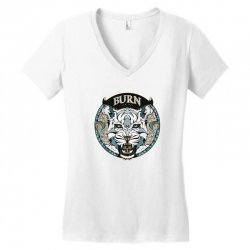 burn t shirt Women's V-Neck T-Shirt | Artistshot
